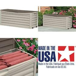 Suncast Resin 103 Gallon Large Storage Box With Wheels Outdoor Bin For Gardening $256.05