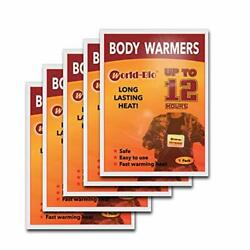 Body Warmers Patch Disposable with Adhesive Backing Gives Hours Warm Pad 5 Packs $12.63