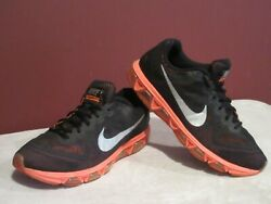 Nike Max Air Tailwind 7 Running Shoes Black Orange 683632 002 Men's Size 13