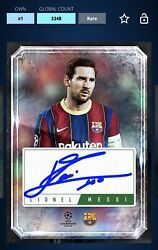 Topps Kick Lionel Messi 12 Days Holiday Auto Signature Rare 2020 DIGITAL CARD $17.99