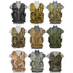 Lancer Tactical Adjustable Cross Draw Vest with Airsoft Pistol Holster CA 310 $59.95