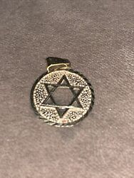 14K Solid Gold Star Of David Necklace Charm Not Scrap $125.00