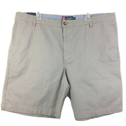 Chaps Flat Front Big Men's Size 42 Chino Gray Shorts New With Tags #4755 $19.99