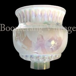 Vintage Iridescent 2 3 4quot; Fitter Opalescent Glass Torchiere Lamp Light Shade $89.99