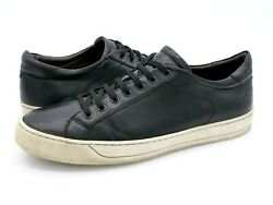 Bruno Magli Mens 13 M Black Westy Leather Low Top Casual Lace Up Sneaker Shoes $34.99
