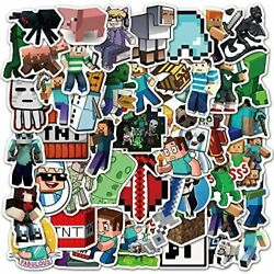 Minecraft Stickers Decals 50 Pack Video Game Theme Funny Stickers For Minecraft $12.17