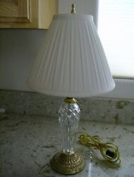Waterford Belline Brass Lamp w Shade 20quot; $119.99