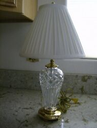 Waterford Belline Brass Lamp w Shade 18quot; $129.99