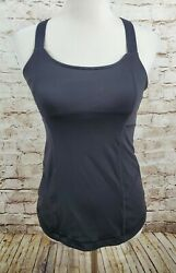 Lululemon Tank Black Size 8 Shelf Bra Strappy