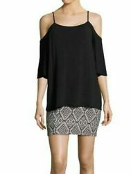 NWT Bailey 44 Bedouin Layered Black Cocktail Dress Sz S