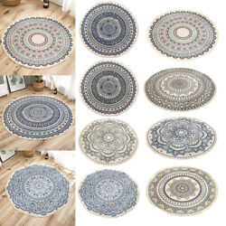 3ft Round Cotton Area Rugs Carpet Soft Mat Bohemian Printed Floor Bedroom Home $19.55