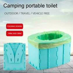 Portable Travel Toilet Folding Commode Toilet Seat Hiking For Camping $12.08