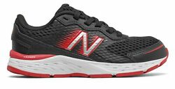 New Balance Kid#x27;s 680v6 Big Kids Male Shoes Black with Red $22.49