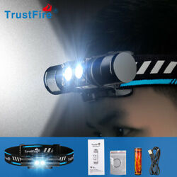 TrustFire H5R 600LM Cool White Rechargeable Flashlight Headlamp Head Light USA $21.89