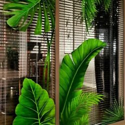 Green Plants Leaves Glass Stickers Door Wall Stickers Decoration 3D Wallpaper $19.99