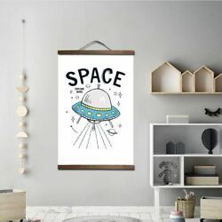 Kids Room Wall Art Canvas Paintings Black amp; White Rockets amp; Astronaut Posters $27.53