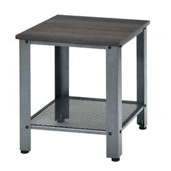 Industrial End Table 2 Tier Side Table Silver Color: Silver $69.41