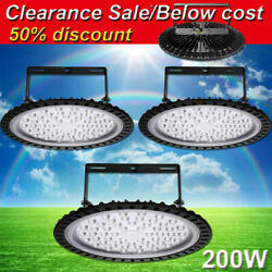 3X 200W UFO LED High Bay Light Gym Factory Warehouse Industrial Commercial Light