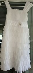 Preowned Size 16 mymichelle white girls dress $28.00