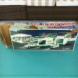 2001 Hess Helicopter with Motorcycle and Cruiser Box Damage $8.00
