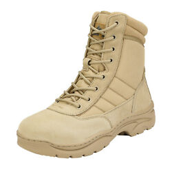 Men#x27;s Side Zipper Military Tactical Boots Motorcycle Combat Trekking Hiking Boot $53.00