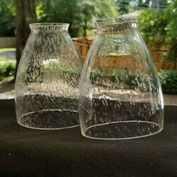 Pair Bubble Lamp Shades Seeded Glass Bell Replacement Globes 1 3 4quot; Fitter $14.99