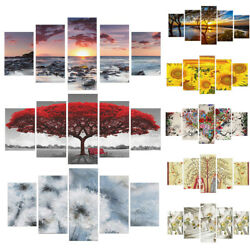 5pcs Unframed Modern Art Oil Painting Canvas Print Wall Picture Home Room Decor $13.29