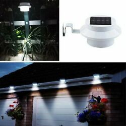 Outdoor LED Solar Powered Gutter Light Garden Yard Wall Fence Pathway Patio Lamp $8.87