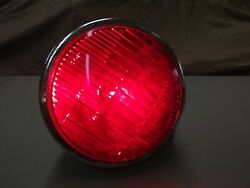 VINTAGE RARE DIETZ RED TAIL LIGHT STOP 6 V GLASS EARLY TRUCK TRAILER BUS WORKS $85.00