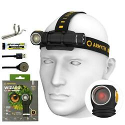Armytek Wizard C2 WR White Red Warm LED Magnet USB rechargeable Headlamp $80.00