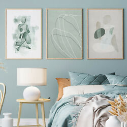 3PCS SET Abstract Line Human Prints Poster Modern Art Home Wall Canvas Paintings $11.39