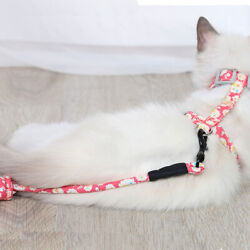 Cat Harness with Leash and Collar Set Escape Proof Adjustable H shped Cat Vest $7.98