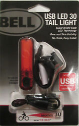 Bell USB LED 30 Lumens Tail Light Bicycle Bike Rechargeable Super Bright COB NEW $9.98