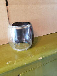 Red amp; Clear Short Globe for Antique Lantern circa 1900#x27;s Marked R1 on back $10.99