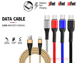 Heavy Duty Micro USB Fast Charger Data Cable Cord For Samsung Android HTC LG US $5.99