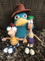 Phineas Ferb amp; Perry the Playtypus Plush Phineas amp; Ferb Disney Lot $25.00