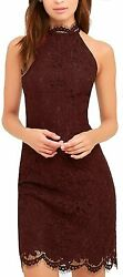 Zalalus Women#x27;s Cocktail Dress High Neck Lace Dresses for Special Occasions $76.26