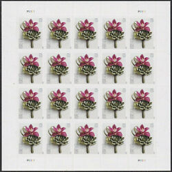 100 Pcs USPS Contemporary Boutonniere Flower 2020 US Forever Stamps Postage $12.93