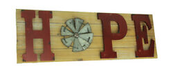 Zeckos Distressed Look Holiday Word Sign Windmill Wall Hanging $20.06