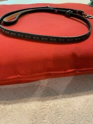 Signature Black Small Coach Dog Leash New Without Tags $45.00