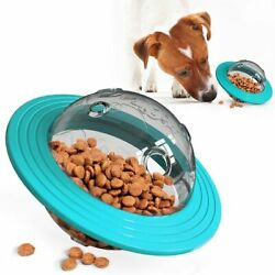Interactive Flying Saucer Dog Toy IQ Treat Ball Smarter Pet Toys Food Ball Food $16.99