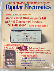 Rare Popular Electronics January 1975 Altair Introduction Issue Very collectible $299.99