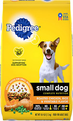 PEDIGREE Small Dog Breed Complete Nutrition Dry Food Roasted Chicken 15.9 Lb $19.13