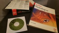 Adobe Photoshop 6.0 Full Version old for Windows CD with Serial Product Key $139.00