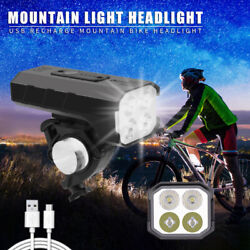 2400LM MTB Bicycle Headlight Bike Rechargeable 7 Modes Head Lamp As Phone Power $23.99