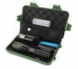 Led Bright Tactical Flashlight Rechargeable Flashlights Case 5000 High Lumens $23.79