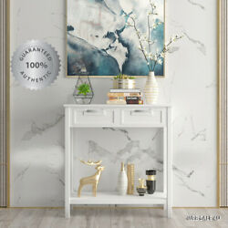 Modern Entryway Console Sofa Table White Accent Drawer Storage Shelf Living Room $182.67