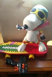 Peanuts Matchbox Snoopy RC Skateboard Toy Remote control 1987 Working RARE $100.00