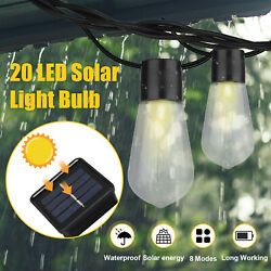 26ft LED Outdoor Waterproof 20 Edison Bulbs Commercial Patio Globe String Light