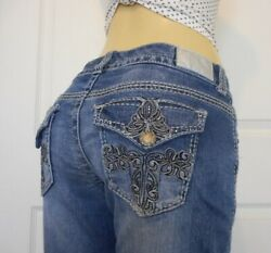MAURICES Size 12 Womens Stretch Jeans Bootcut Denim $13.99